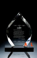 Оптический K9 трофей Crystal Award с черными кристаллического фундамента