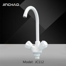 Un seul orifice mélangeur de lavabo, chaude et froide du robinet de cuisine, de robinets en plastique