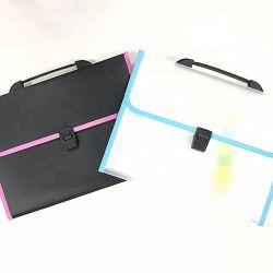Les fournitures de bureau d'une poche de la taille de l'expansion4 FC de fichier, l'expansion Filefolder avec poignée 13 poches claire