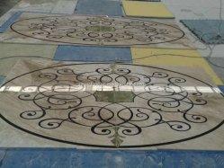 Marmeren Waterjet Floor Medallion Patterns voor de lobby Floor Tile decor