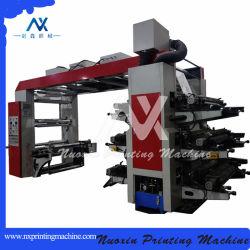 High Speed Plastic Paper Aluminium Foil Film 6 Kleurenflexografie Afdrukmachine