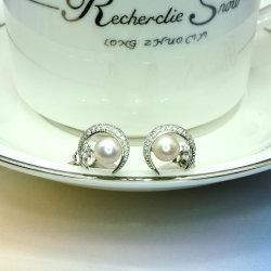여자를 위한 925의 순은 자연 진주 귀걸이 형식 보석 부속품 선물