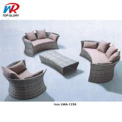Ökonomisch haltbares die Rattan-Ecken-Sofa-im Freienmöbel kundenspezifisch anfertigen, die Set speisen