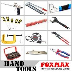 Foxmax Handwerkzeug-Edelstahlrunder eingekerbter vergipsender Trowel (FM-PT35)