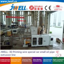 Jwell- 3D سلك الطباعة سيارة خاصة أنبوب الزيت الصغير الهواء أنابيب إعادة تدوير آلة صنع الطرد الزراعي مع برميل مختلف و برغي لPP PA PLA
