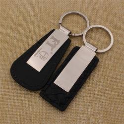 Regalos promocionales personalizados Llavero de metal llavero de cuero/PU