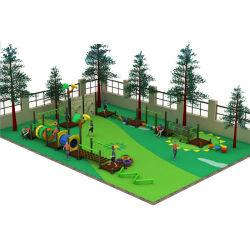 Estilos de diferentes tamanhos personalizados parque ao ar livre de plástico de madeira ginásio selva deslize