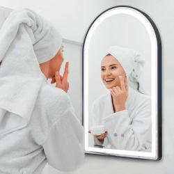 Difusor em acrílico transparente de cava-LED retroiluminado de parede decoração das casas de banho Espelho de Parede