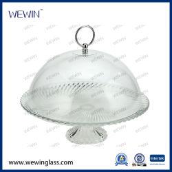 Barata de China Wholesales Cocina Torta de vidrio de placa de la cúpula de vidrio de las placas de utensilios de cocina