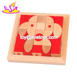 Los nuevos más populares de madera Montessori cubo 3D Rompecabezas para Niños W14G045