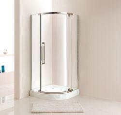 간단한 작풍 쟁반 (P12)를 가진 유리제 샤워 상자