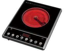 Fornello infrarosso Mif-102 di induzione del BBQ della fresa della tabella 1 della stufa dell'acciaio inossidabile della maniglia elettrica nera delle coperture