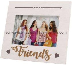 """6""""X4"""" MDF-Bilderrahmen + Laser-Schneid-Wörter Friends+Printing-Symbol"""