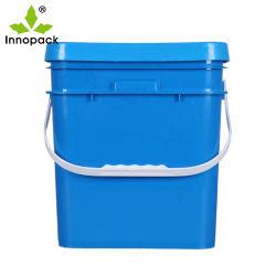 15リットルのパッキングペンキのバケツのためのプラスチック正方形のバケツのバケツの食品等級5Lのバケツ