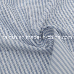 Plaid Yarn-Dyed Polyester Oxford tissu tissu rayé