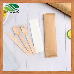 Conjuntos de Talheres naturais/biodegradáveis/descartáveis/de madeira para Party/Camping/BBQ/aniversários/piqueniques