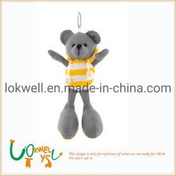 La peluche gioca Keychains Pendant farcito orso grigio