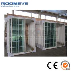 سعر المصنع مخصص الولايات المتحدة الأمريكية النمط عالية الجودة أبيض اللون UPVC / PVC الأبواب منزلقة مع زجاج مقسّى