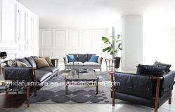 أريكة جلدية إيطالية عالية المستوى حديثة