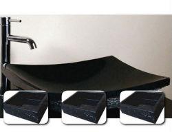 Полированный черный гранит и мрамор камень судна радиатор процессора используется для ванных комнат