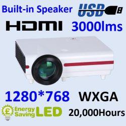 LED 영사기에 있는 밖으로 오디오를 가진 인조 인간 LCD 영상