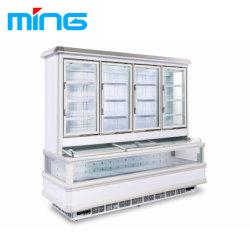 Tipo incorporato congelatore unito refrigeratore di raffreddamento dei frigoriferi commerciali del supermercato del ventilatore
