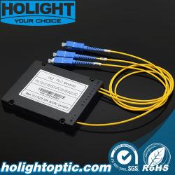 광섬유 모듈 PLC ABS 박스 2.0mm 1x2 스플리터 핫 항목