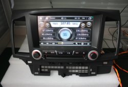 Carro Isun GPS DVD Player para Mitsubishi Lancer Ex com amplificador digital ,TV, a BT, iPod (TS8731)