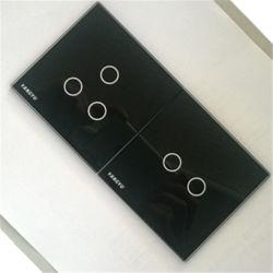 Закаленное стекло сенсорного переключателя пластины в черный
