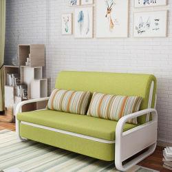Platz-Vielzwecksofa mit Bett-Gewebe-Falz-Stuhl-Lagerschwelle-Wohnzimmer-Metallrahmen-Sofa-Bett sparen