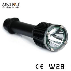 Archon W28のダイビングの懐中電燈の極度の軽い水中100m 1000の内腔の潜水ライト
