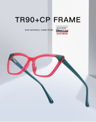 بيع نظارات مصمم جديد بالجملة للحماية من البلاستيك الكمبيوتر الأزرق TR90 وضع إطارات للنظارات