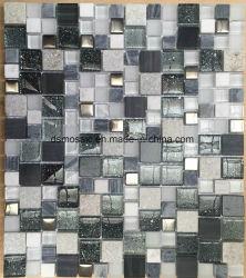 Het moderne Bruine Glas van de Stijl en de Marmeren Tegel van het Mozaïek voor de Decoratie van de Muur