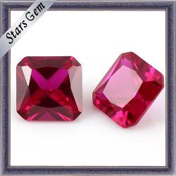 precio de fábrica de corindón de piedras preciosas sintéticas 5# Ruby para joyería