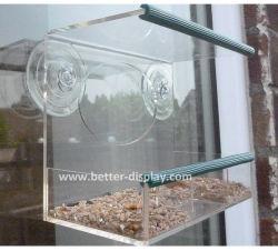 Fenêtre de gros Bird Feeder maison avec bac d'alimentation coulissant et force industrielle Ventouses/mangeoire en plastique