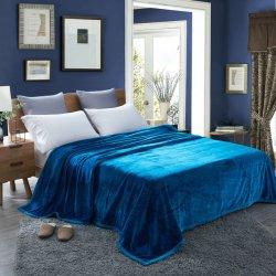 100% de poliéster por grosso Super Macio cor sólida flanela de vison cobertor de lã Passos