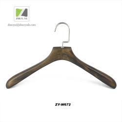 Zhuoyu Custom Made Cintre en Bois de Velours avec Rainure Antiglisse