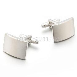 Bracciale quadrato VAGULA Fashion con placcatura in argento spazzolato link 703