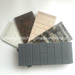 3D fachada decorativa 16mm PU/sanduíche de poliuretano/painel de bordo de madeira/Stone/Brock Grain parede exterior
