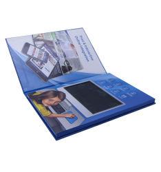 Banheira de vender capa dura Livro de vídeo de 7 polegadas, Cartão de brochura saudação de vídeo
