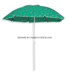 まっすぐな庭のテラスの傘を広告する屋外の家具