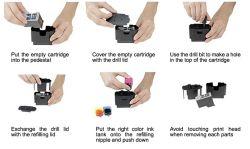 Sauberer und intelligenter Tinten-Nachfüllungs-Hilfsmittel-Installationssatz für HP 63 60 61 21 92 98 102 300 301 851 852