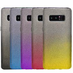 3 Camadas de moda Híbrido duplo de protecção jóias cintilante tampa da caixa traseira móvel para a Samsung Galaxy Nota 8