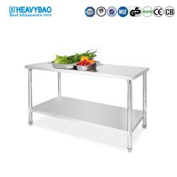 Cuisine Heavybao banc de travail en acier inoxydable avec Undershelf