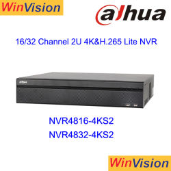 Dahua NVR4816-4ks2 16channel 2u 4K H. 265 통신망 비디오 녹화기 감시