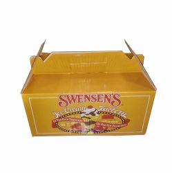 손잡이를 가진 아이스크림 종이 수송용 포장 상자