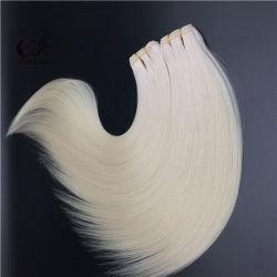 Usine brésilienne de gros de 100 % de l'homme de couleur blanche Virgin Remy Hair trame