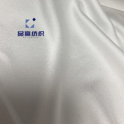 Ym9549 le tissu de polyester tissé Silk-Like 117gsm blanc fleur VFI de coupe