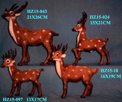 毛皮で覆われたシカ-アメリカヘラジカのおもちゃ(F038)