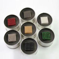 6 kleuren 5mm 216 Ballen van de Magneet van de Kubus van het Neodymium van PCs